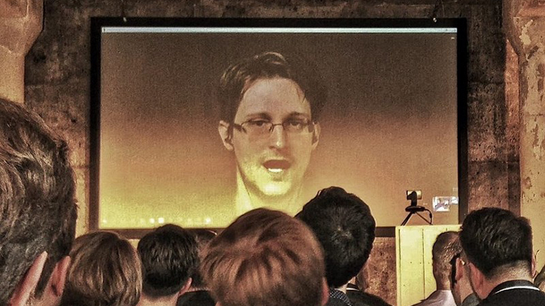 Sid Confi Talk With Snowden At Blue Yard Capital Event Berlin