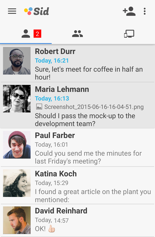 Screenshot of Sid Secure Team Chat 0.6.0